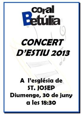 Cartell concert d'ESTIU 2013
